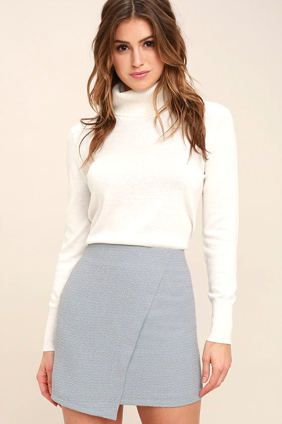 Mademoiselle Light Blue Mini Skirt 1