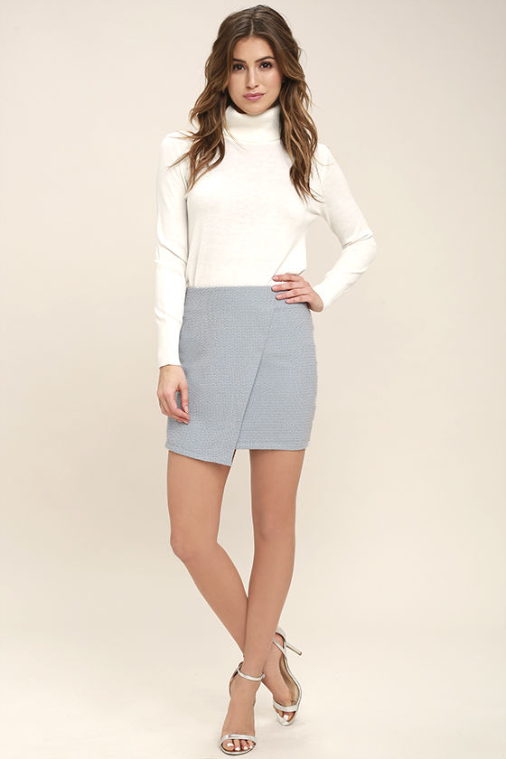 Mademoiselle Light Blue Mini Skirt 2