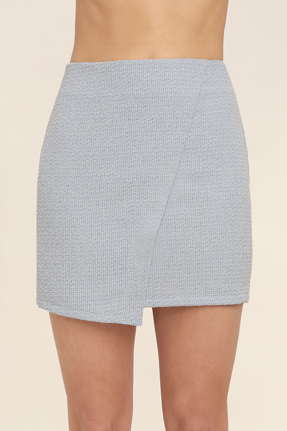 Mademoiselle Light Blue Mini Skirt 4