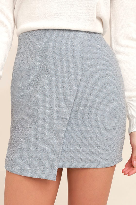 Mademoiselle Light Blue Mini Skirt 5