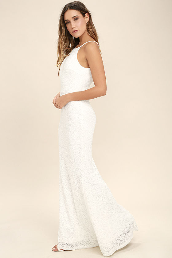 Ephemeral Allure Ivory Lace Maxi Dress 2