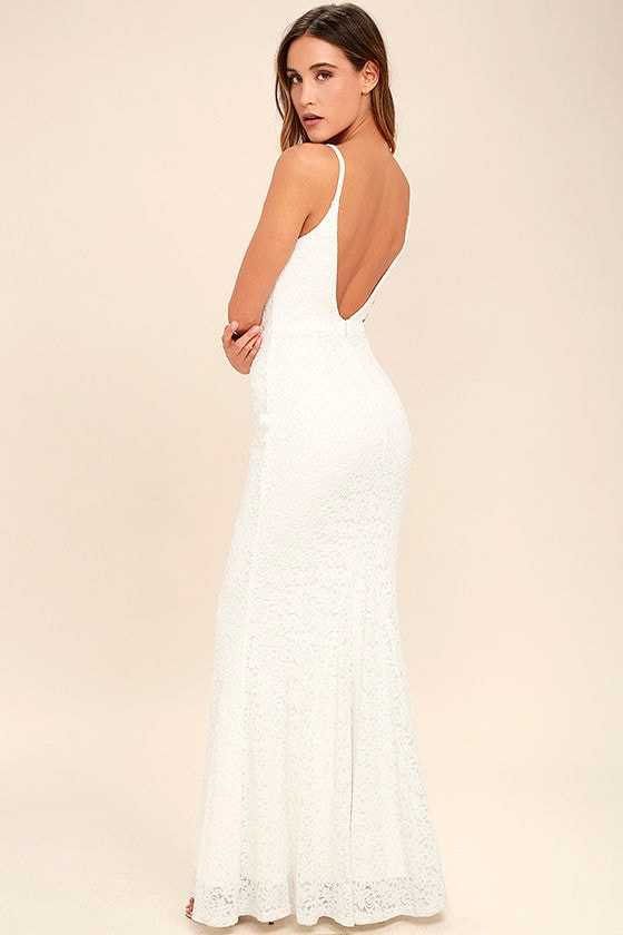 Ephemeral Allure Ivory Lace Maxi Dress 3
