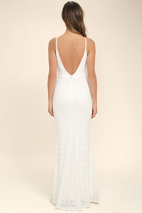 Ephemeral Allure Ivory Lace Maxi Dress 4