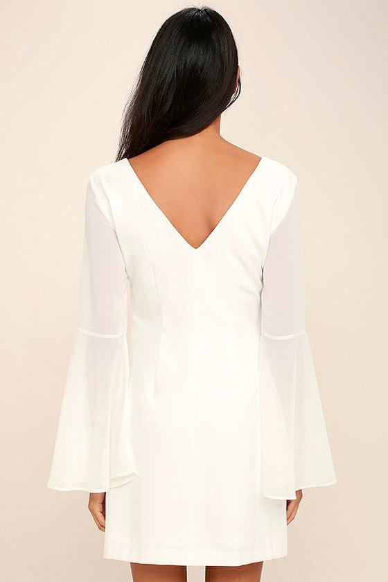 Leave the Light On White Beaded Long Sleeve Dress 4