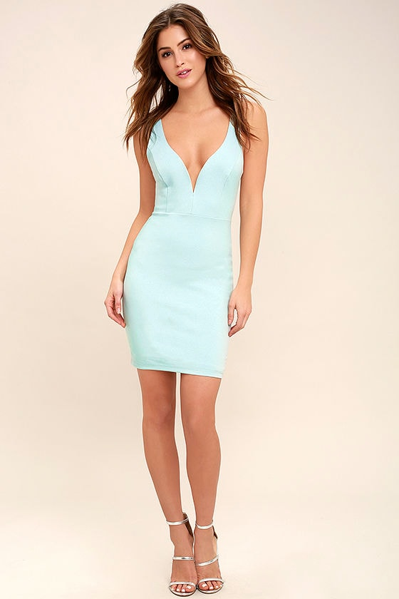 237769b86c Sexy Light Blue Dress - Bodycon Dress - Sleeveless Dress -  44.00