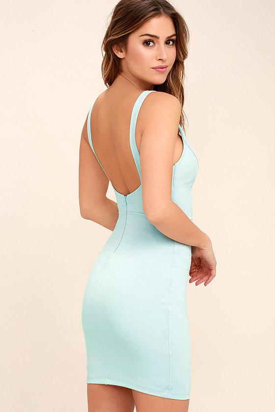Perfect Pick Light Blue Bodycon Dress 3