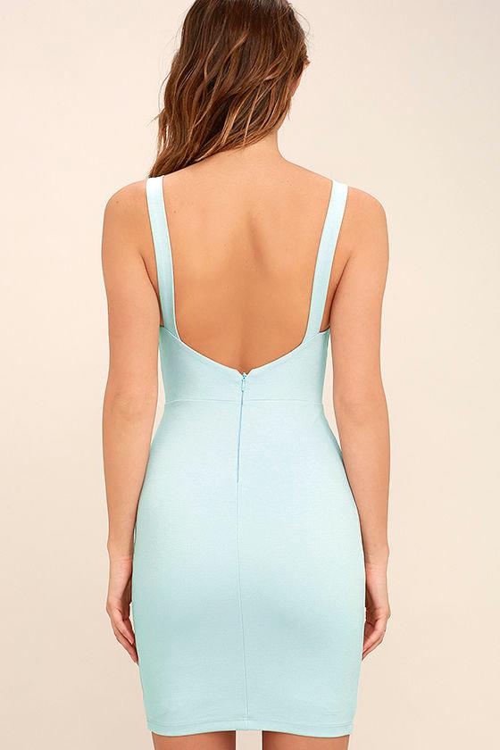Perfect Pick Light Blue Bodycon Dress 4