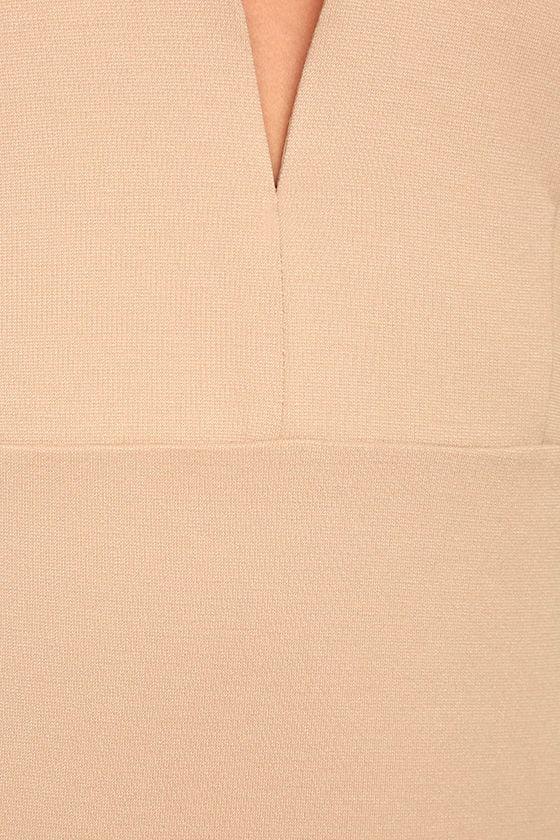 Perfect Pick Light Beige Bodycon Dress 6