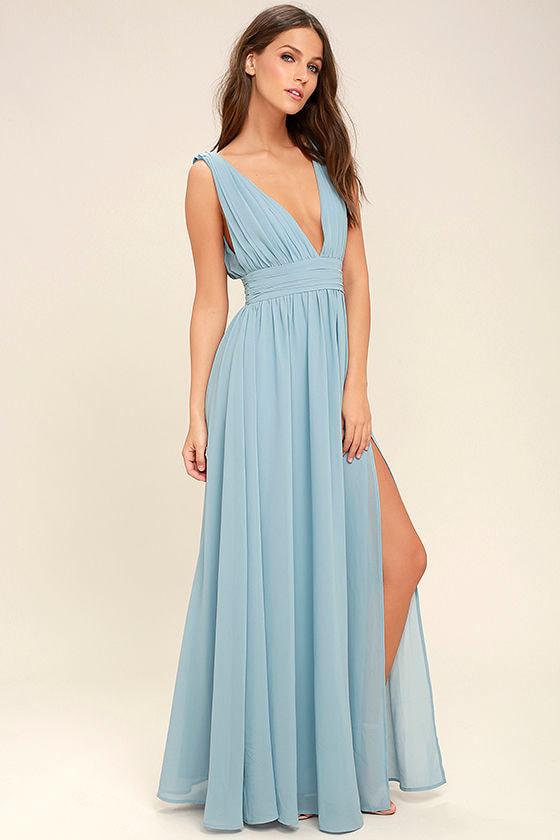 Light Blue Gown - Maxi Dress - Homecoming Dress - $84.00 - photo #42