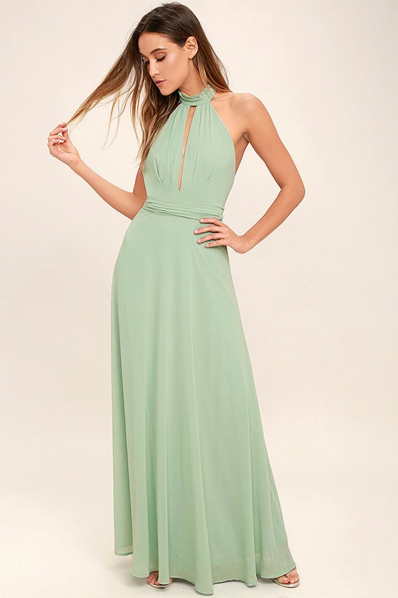 First Comes Love Sage Green Maxi Dress 2