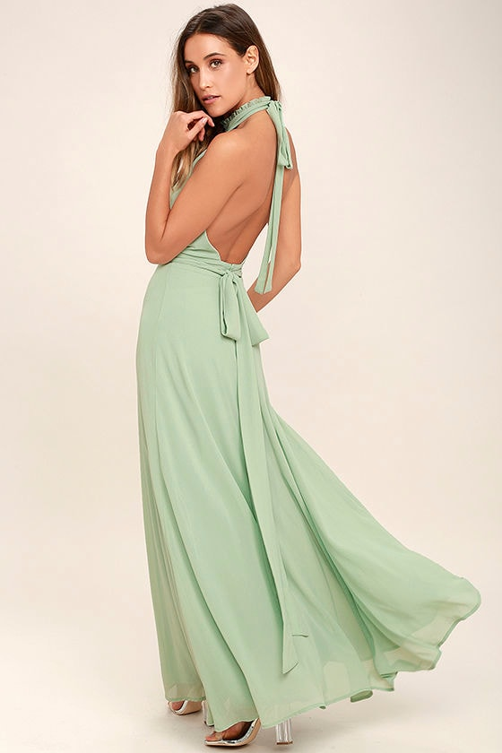 First Comes Love Sage Green Maxi Dress 3