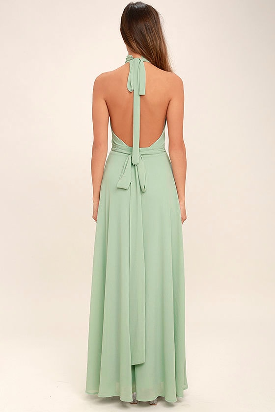 First Comes Love Sage Green Maxi Dress 4