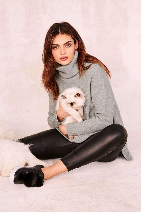 2c0a2a7d02 Cozy Heather Grey Top - Turtleneck Sweater - Knit Sweater -  72.00