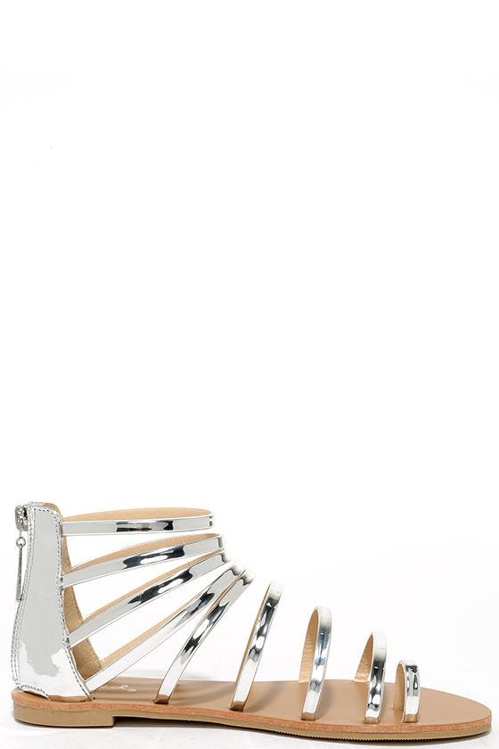 Wisdom Silver Gladiator Sandals 4