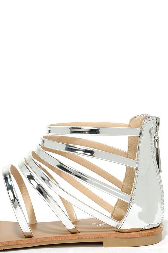Wisdom Silver Gladiator Sandals 7