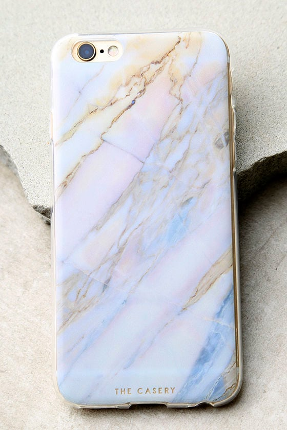 The Casery Shatter Marble Blue and Pink iPhone 6 and 6s Case 1