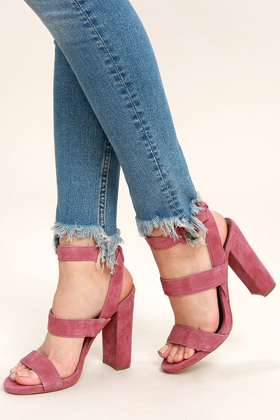 6562ade0fef Steve Madden Canaan - Mauve Heels - Suede Leather Heels -  99.00