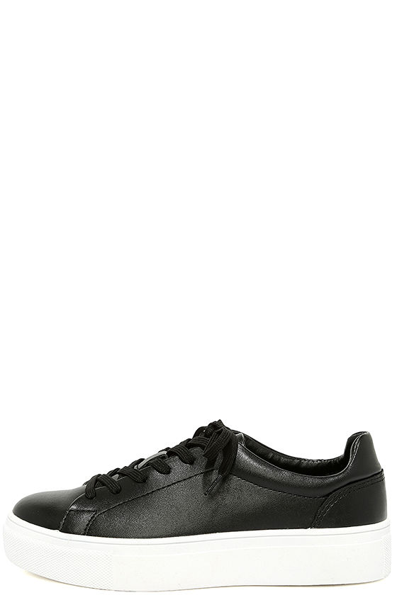Madden Girl Kitten Black Flatform Sneakers 1