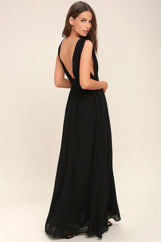 Heavenly Hues Black Maxi Dress 4