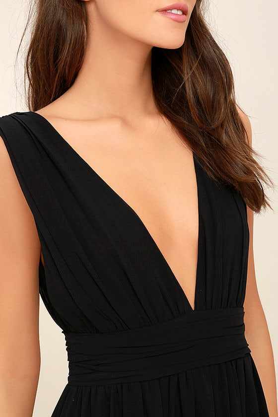 Heavenly Hues Black Maxi Dress 5