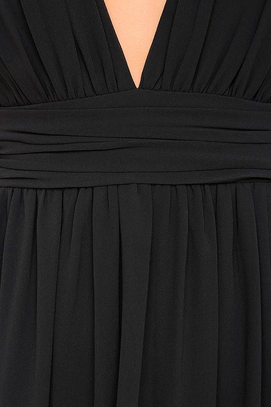 Heavenly Hues Black Maxi Dress 6