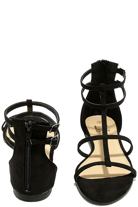Jayne Black Suede Gladiator Sandals 3