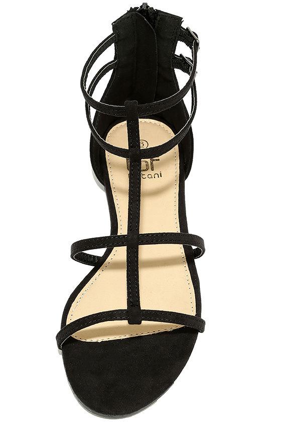 Jayne Black Suede Gladiator Sandals 5