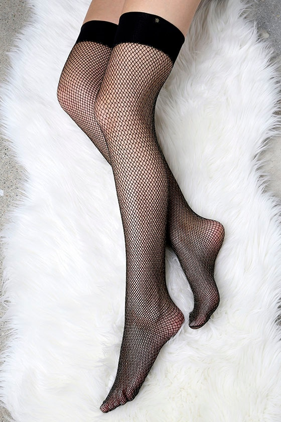 Fenty for Stance by Rihanna Fishnet Black and Gold Stockings 1