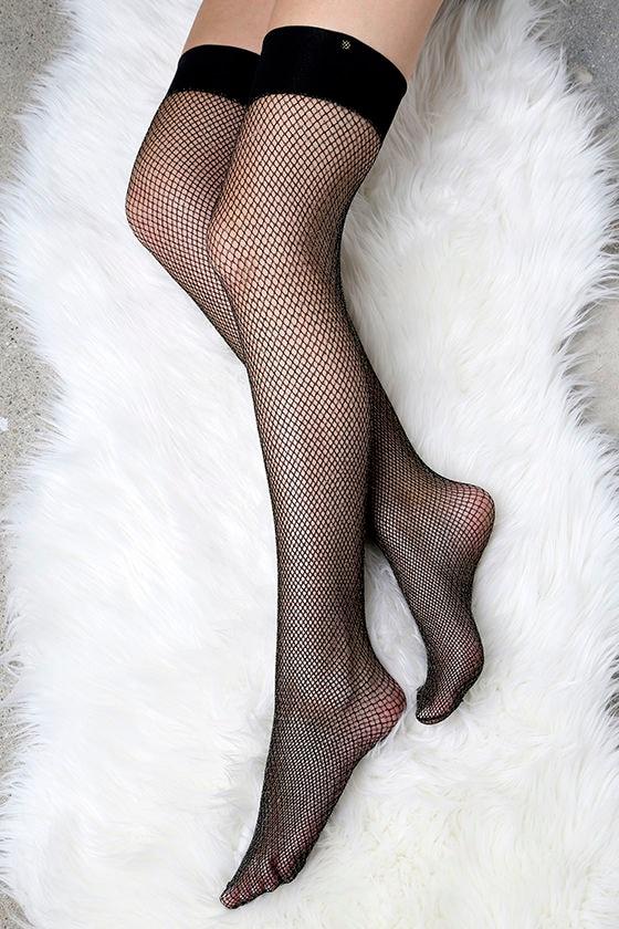 e569ab82e Fenty for Stance by Rihanna Fishnet - Gold Thigh High Stockings - Fishnet  Stockings -  22.00