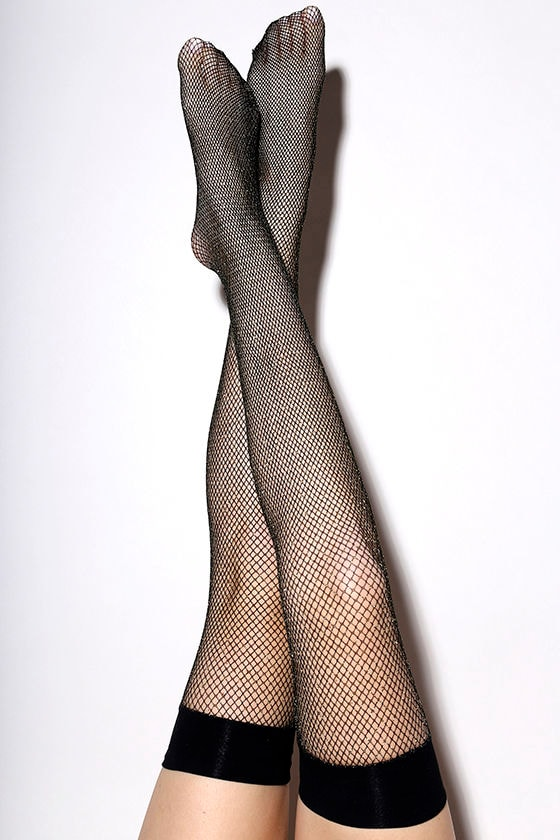6b9e0175d Fenty for Stance by Rihanna Fishnet - Gold Thigh High Stockings ...