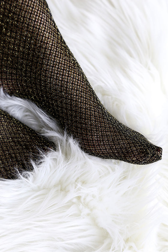 Fenty for Stance by Rihanna Fishnet Black and Gold Stockings 3
