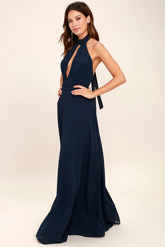 First Comes Love Navy Blue Maxi Dress 1