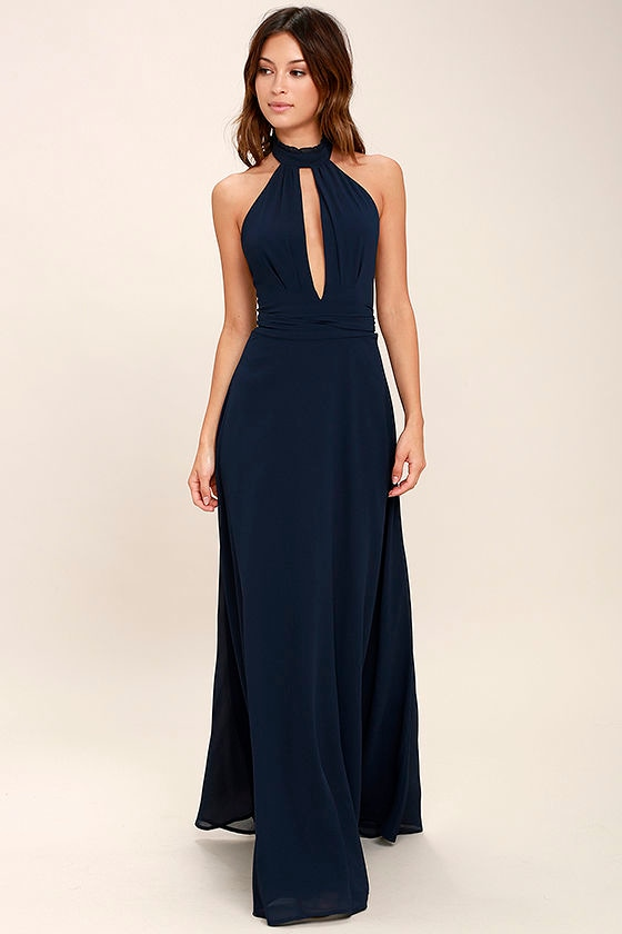 First Comes Love Navy Blue Maxi Dress 2