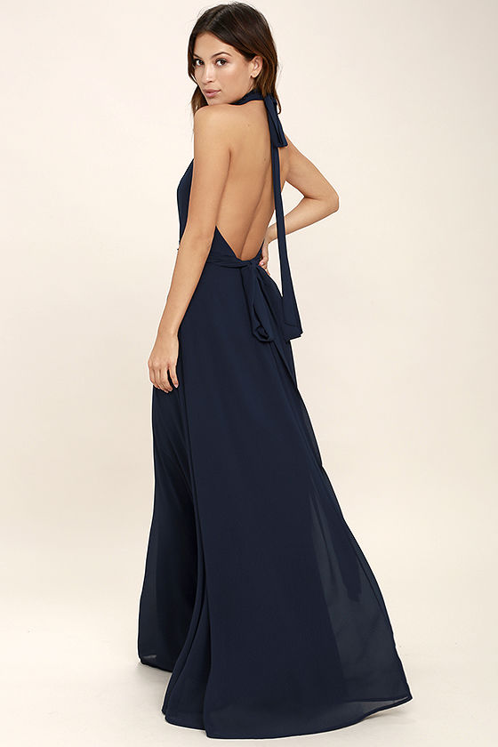First Comes Love Navy Blue Maxi Dress 3