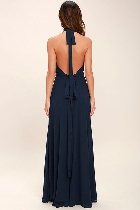 First Comes Love Navy Blue Maxi Dress 4