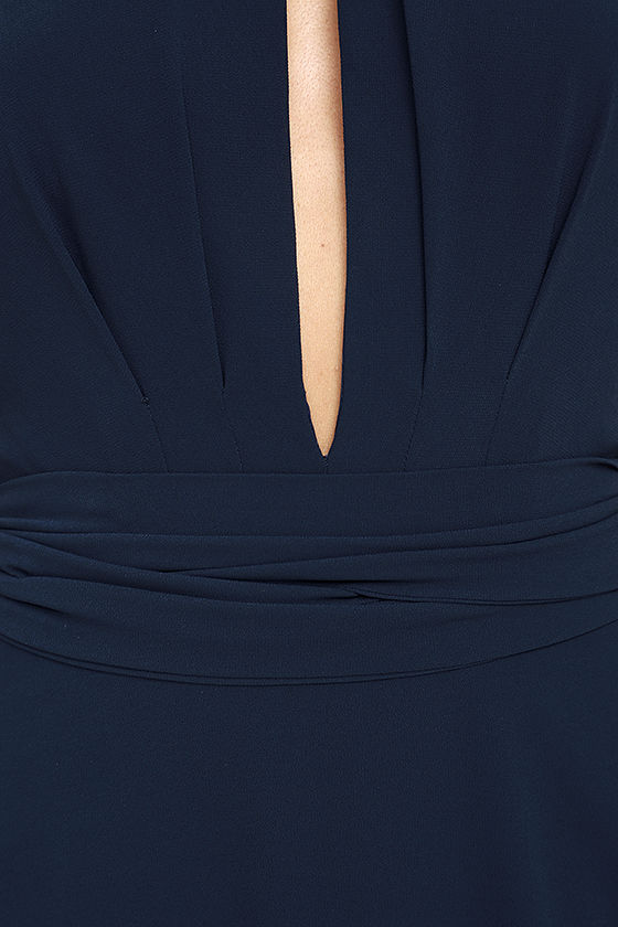 First Comes Love Navy Blue Maxi Dress 6