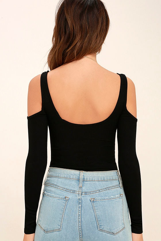 Everyday Inspiration Black Long Sleeve Bodysuit 3