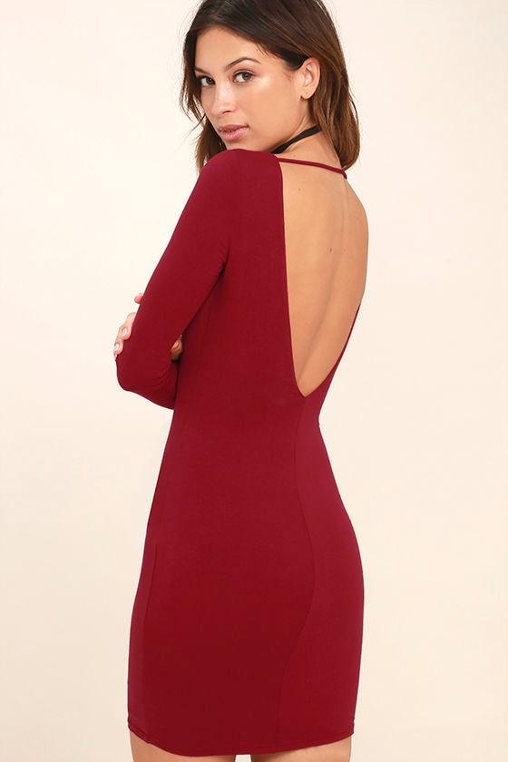 Deep Backless Dresses