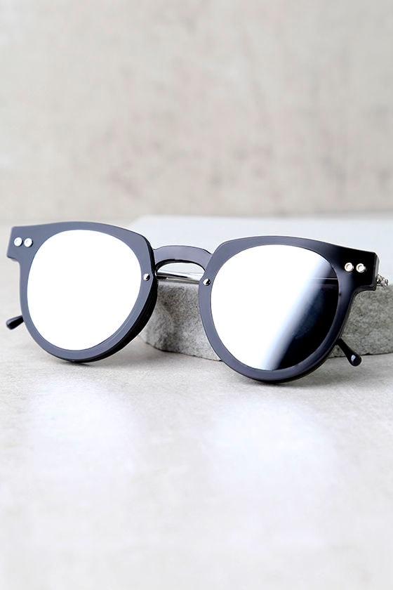 Spitfire Sharper Edge 1 Black and Silver Mirrored Sunglasses 3