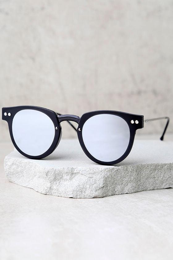 Spitfire Sharper Edge 1 Black and Silver Mirrored Sunglasses 2