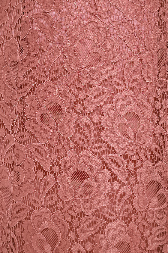 Evening Dreaming Rusty Rose Lace Maxi Dress 7