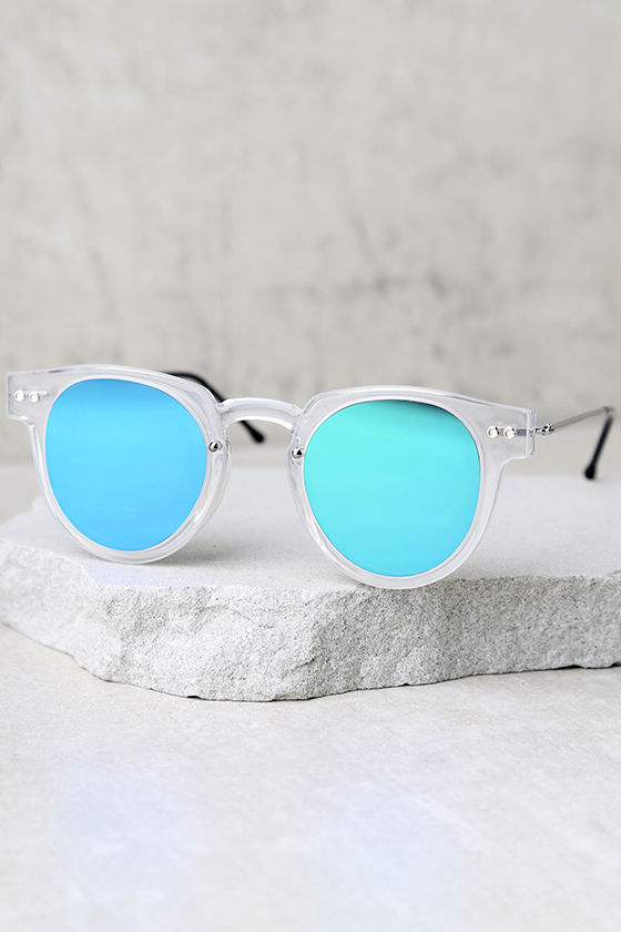 7fcfa00586a3 Spitfire Sharper Edge 1 - Clear and Green Sunglasses - Mirrored ...