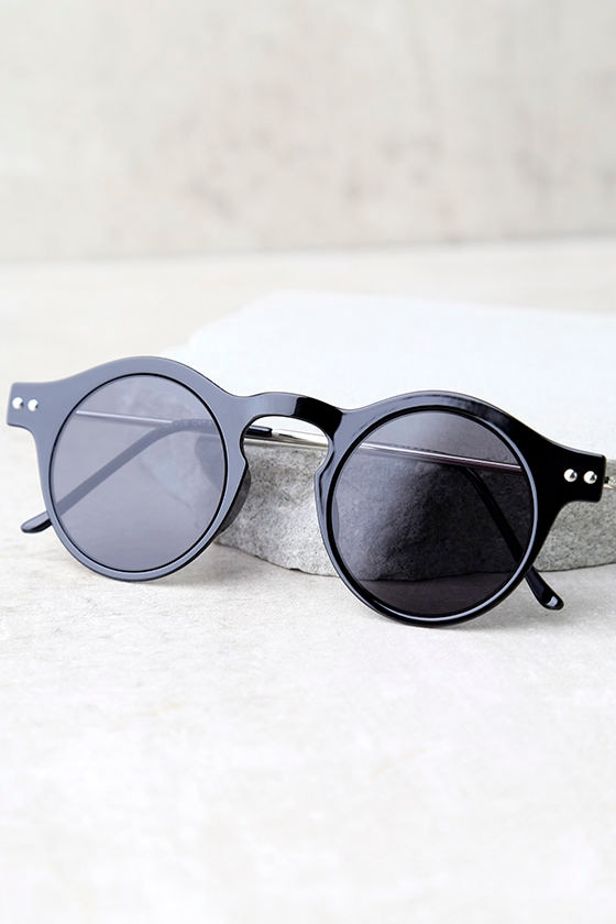 Spitfire Nexus Black Round Sunglasses 4