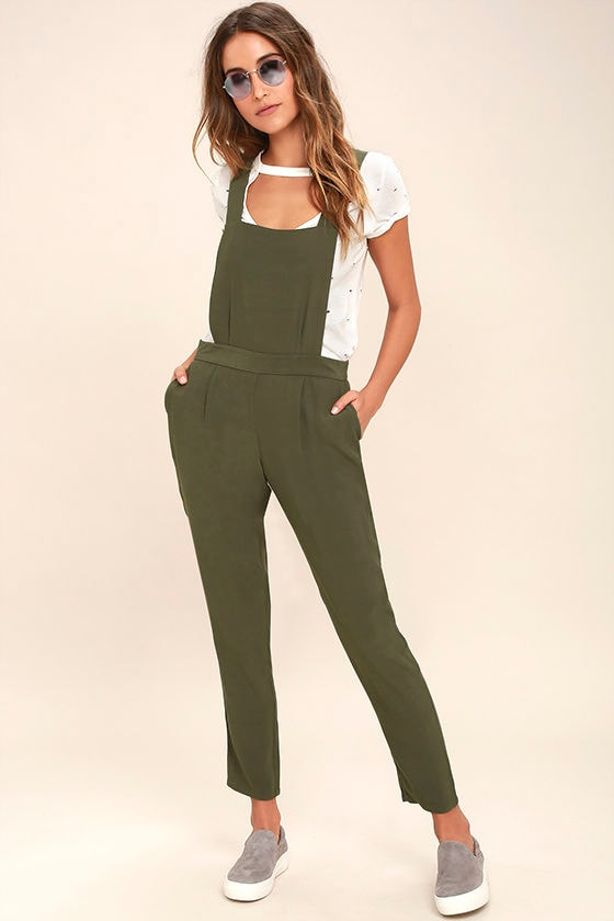 Bb Dakota Kelly Olive Green Overalls by Bb Dakota