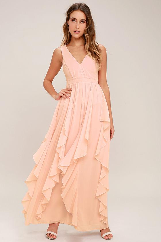 Lovely Blush Pink Dress - Maxi Dress - Bridesmaid Dress - $92.00