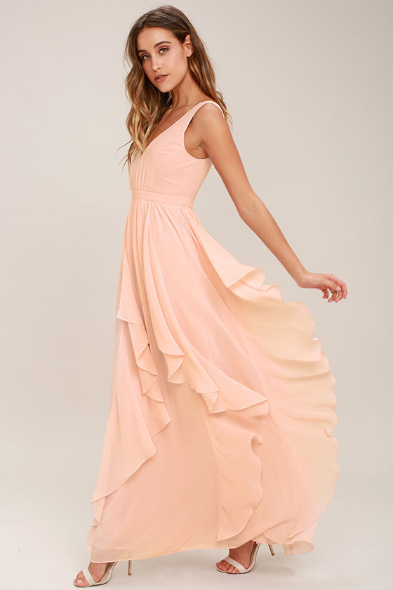 Simply Sweet Blush Pink Maxi Dress 2