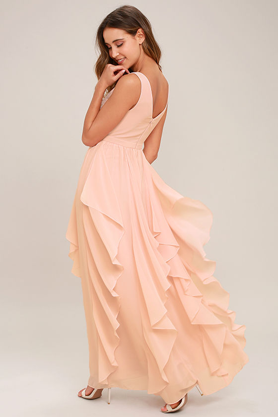 Simply Sweet Blush Pink Maxi Dress 3