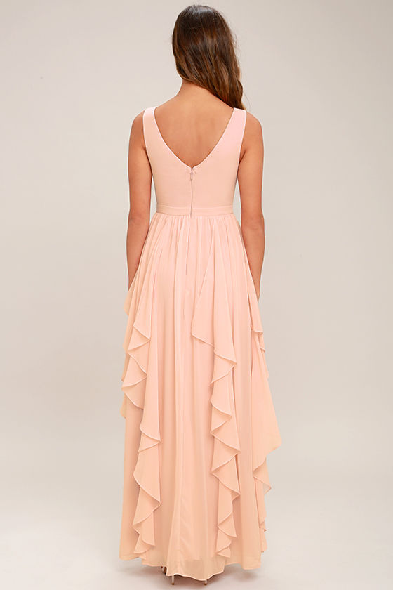 Simply Sweet Blush Pink Maxi Dress 4