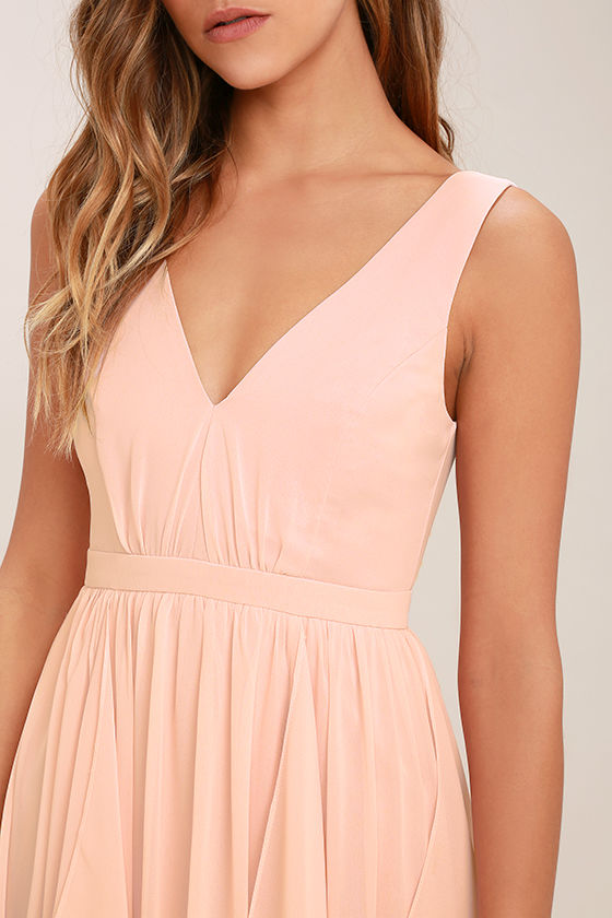 Simply Sweet Blush Pink Maxi Dress 5