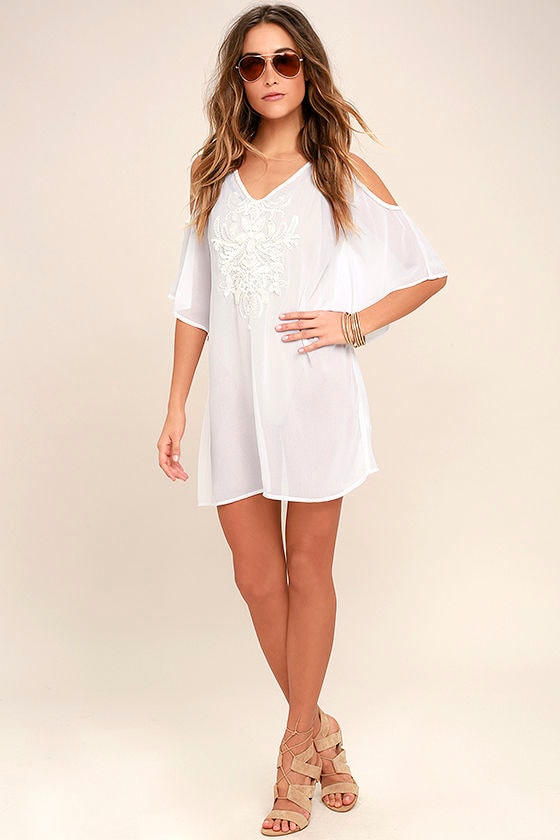 c43c6d34d3b Beach Cover Up - White Cover-Up - Beaded Cover-Up - Swim Cover-Up ...